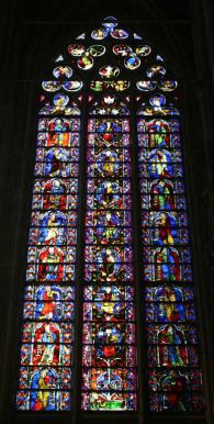 Verrière de l'Arbre de Jesse, cathédrale Saint-Nazaire et Saint-Celse, XIIIe siècle, Carcassonne